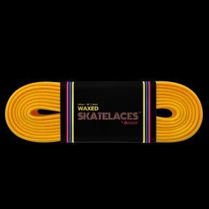 Quad-waxed-laces-6mm-bumblebee-yellow-roller-derby-skate
